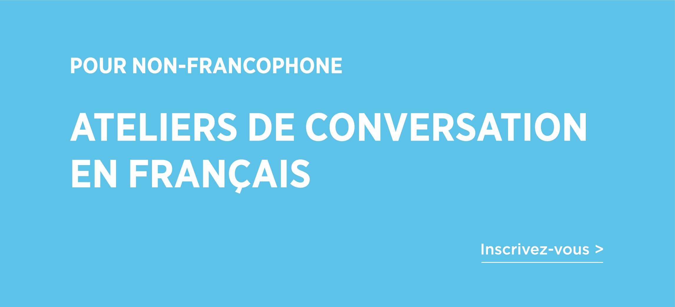 Bandeau - Ateliers de conversation en français pour non-francophones